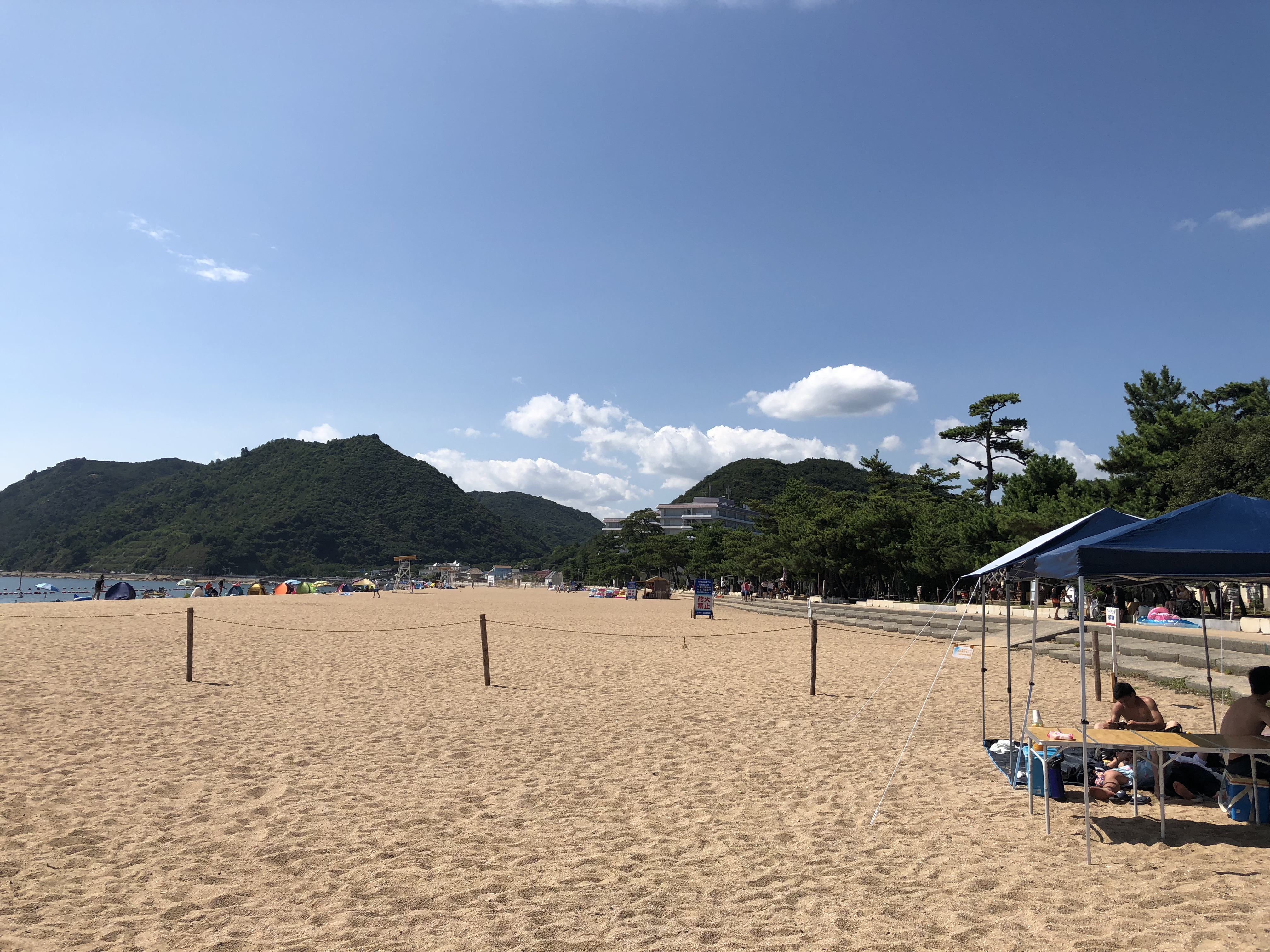 渋川海水浴場バーベキュー